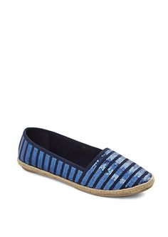 b737873af65a Sequin Striped Espadrille Flat