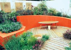 orange garden wall - could see it in turquoise or lime green too. :)