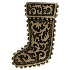 Christmas Stocking Pin, Vintage 1980′S