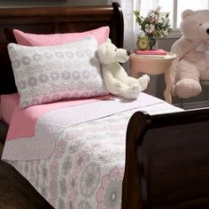 Lola Floral Cotton 2-piece Quilt Set - Overstock™ Shopping - The Best Prices on Kids' Quilts