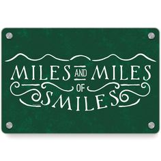 Running Metal Wall Art Panel - Miles and Miles of Smiles Panel Wall Art, Personalized Water Bottles, Room Signs, Smile Quotes, Race Day, Personalized Products, Make Me Happy, The Fosters, In This Moment