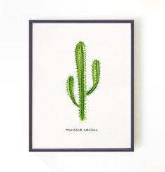Cactus watercolor painting - mexico cactus, Apartment decor, Cactus print, Cacti Illustration, wall hanging, 8x10 Buy 2 Get 1 Free