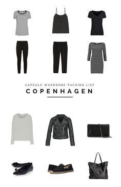 Capsule Wardrobe | Minimalist Fashion | Packing Tips | Travel Packing Tips | Packing Guide | Minimal Travel | Travel Light | What to Pack for Copenhagen