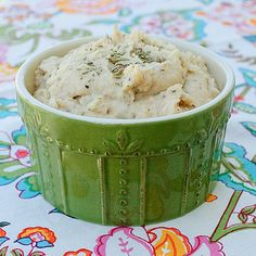 Tuscan Hummus - there's parmesan in it. Heaven help me!    1 (15 oz) cannellini or Great Northern Beans, drained and rinsed  2 cloves of garlic  1/3 grated Parmesan cheese  1/4 tsp. black pepper  1/8 tsp. cayenne pepper  1 Tbsp. lemon juice  1 1/2 Tbsp Tahini paste  1/2 tsp salt  1 tsp. dried rosemary  1/4 cup extra-virgin olive oil plus extra for garnish if desired