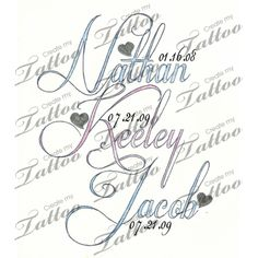 Tattoo with childrens names | Tattoo with childrens names #31208 | CreateMyTattoo.com
