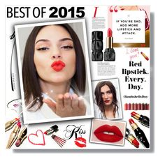 """bestof2015"" by bellamonica ❤ liked on Polyvore featuring beauty, Christian Louboutin, Guerlain, Estée Lauder, Marc Jacobs, Hourglass Cosmetics and bestof2015"