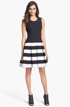 Milly Stretch Fit & Flare Dress available at #Nordstrom