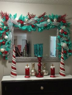 Teal and red christmas! More