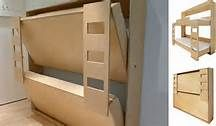 Free Fold Up Bunk Bed Plans PDF Download US UK CA