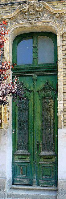 Timisoara, Romania - Old Green Door