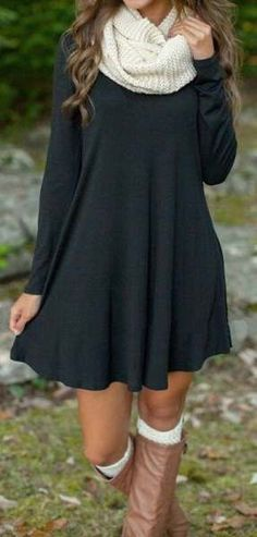 30 Cute And Cheap Fall Dresses Finding cheap fall dresses is the easiest way to up your style for the fall season. From sweater dresses to florals, here are the 30 fall dresses you need! Warm Dresses, Cute Dresses, Sweater Dresses, Scarf Dress, Dresses Dresses, Sweater Dress Outfit, Girls Dresses, Autumn Dresses, Wedding Dresses