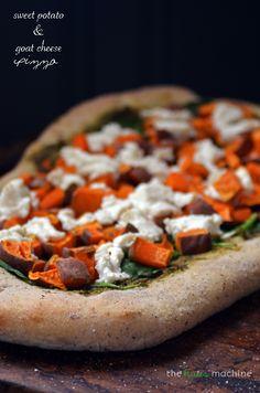 Sweet Potato & Goat Cheese Pizza // The Haas Machine