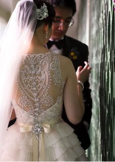 I love the detail of this dress #bridalwear