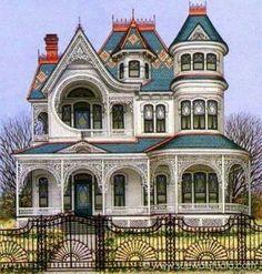 Ferndale, Ca. Victorian (100 pieces)artwork