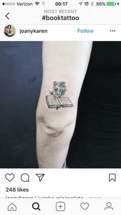 Little Tattoos, Mini Tattoos, Small Tattoos, Leg Tattoos, Flower Tattoos, Body Art Tattoos, Tattos, Bookish Tattoos, Literary Tattoos