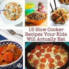 Food and Drink. 15 Slow Cooker Recipes that are EASY AND KID Friendly!