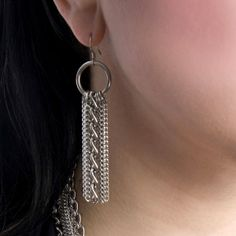 Rapt In Maille | Handmade Chainmaille Jewelry by Melissa Banks | Stainless Steel | Chicago — GLAM Multi-Chain Earrings