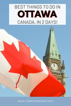 Find here the top things to do in Ottawa in two days! Ottawa is the captial of Canada and a place full of things to do. From explore the parliemtn to strolling downtown and more! #Canada #Ottawa #NorthAmerica #Travel Top 10 Tourist Destinations, Canada Destinations, Montreal Travel, Toronto Travel, Toronto Nightlife, Stuff To Do, Things To Do, Ottawa Canada, Canadian Travel