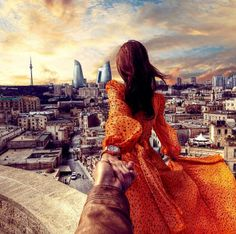 102. #followmeto the amazing city Baku in Azerbaijan. 15 March 2014 (the 102nd pic of the photo series by Russian Photographer, Murad Osmann)