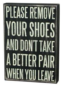 remove shoes