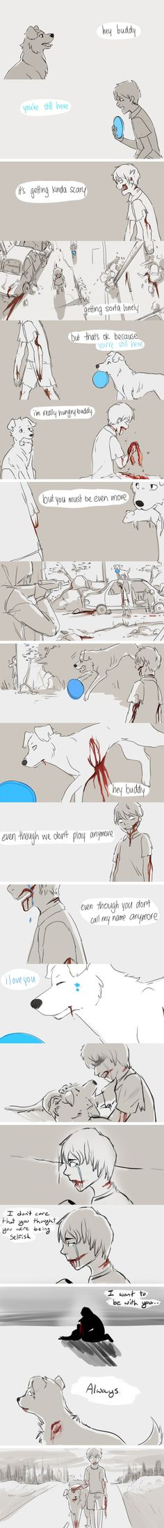 Zombie feels... ((not a creepypasta but still ;___; ))