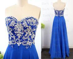 Robes de bal bustier Royal Blue personnalisé par SarNDresses