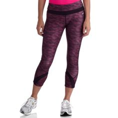 Avia Workout Capris These Avia Capri Pants are a good choice for a casual day out. They feature an elastic waistband, wicking technology and a comfortable length. Whether running errands, going to the gym or simply hanging out at home, these women's capri pants are comfortable, super lightweight and easy to travel with. The tagless design is another way these pants are designed to be comfortable no matter what your day holds. The polyester and spandex fabric is long-lasting and breathes…