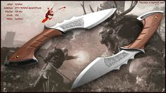 My concept of hunting knife suitable for main character from game Witcher…