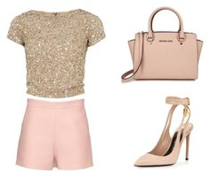"""Party Ready #2"" by ella178 ❤ liked on Polyvore featuring Valentino, Alice + Olivia, Tom Ford, Michael Kors, Pink and nude"
