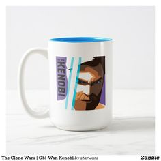 The Clone Wars | Obi-Wan Kenobi Two-Tone Coffee Mug Star Wars Mugs, Star Wars Gifts, Obi Wan, Clone Wars, Dog Design, Artwork Design, Color Pop, Coffee Mugs, Best Gifts