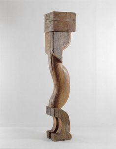Cariatide - [1943 - 1948] Constantin Brancusi  (1876 - 1957)    Bois (chêne) 229 x 45,5 x 43,5 cm