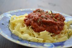 A Taste of Our Kitchen Homemade Pasta, Bolognese, Bread Crumbs, My Recipes, Spaghetti, Chicken, Ethnic Recipes, Kitchen, Food