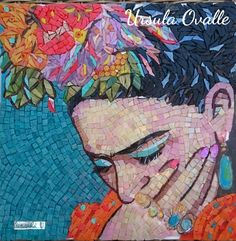 Frida Kahlo mosaic by Úrsula Ovalle