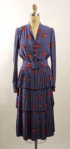 Dress Department Store: Henri Bendel (American, founded 1895) Date: 1939 Culture: American Medium: silk