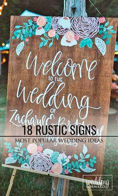 24 Most Popular Rustic Wedding Signs Ideas