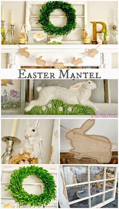 Blue Ribbon Kitchen: Easy Easter Mantel