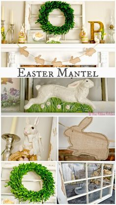 Blue Ribbon Kitchen: Easy Easter Mantel