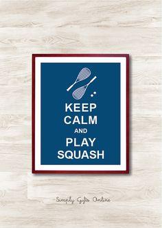 Mantener la calma y jugar Squash descarga por simplygiftsonline