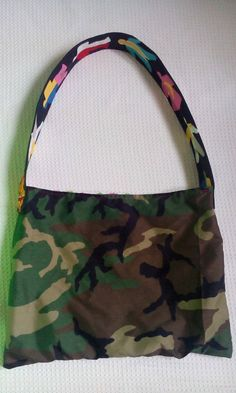 Camouflage by  one of a kind larissamyrie.art washable, strong, upcycled, fun, #fashion #style #art #barbie #larissamyrie #larissamyrie.art #shoppingbag #totebag #shoulderbag #slowfashion