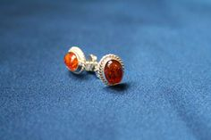 Braided Amber Stud Earrings - Cognac colored braided earrings made from genuine amber and 925 sterling silver. Affordable luxury amber and silver jewellery - Silver Jewellery, Jewelry, Amber, Charlotte, Stud Earrings, Sterling Silver, Luxury, Collection, Color