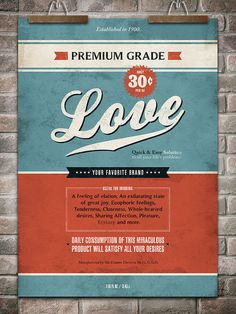 Poster  / Love / 20x28 by GoodOldDays1 on Etsy, $85.00