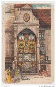 (17233) AK Gruß aus Olmütz, Olomouc, Astronomische Uhr 1899