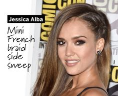 Loving Jessica Alba's side braid