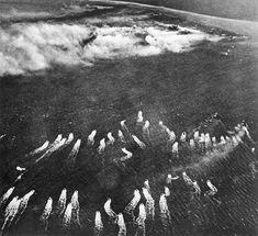 2 World War Italy theater of war Battle of Anzio/Nettuno JanuaryMay 1944Allied landing operation at Anzio/Nettuno 22 January 1944 Aerial view of the...
