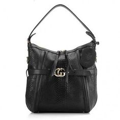 Gucci Medium Hobo with Double G Detail 247185 Black $178