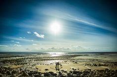 Beautiful winter sun on Llantwit Major Beach.