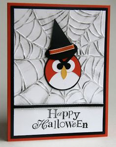 Angry Birds Halloween Card
