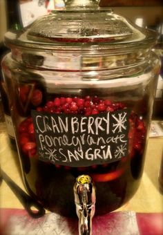 Cranberry Pomegranate Sangria | Perfect for Christmas Cocktails!