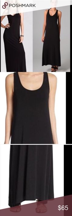 Vince black maxi dress Sz small Black jersey maxi dress Vince Dresses Maxi