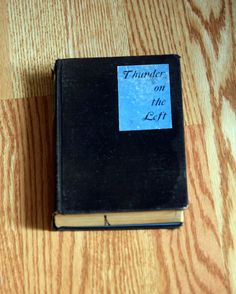 Antique Book from 1926 Thunder on The Left  by Geminivintagestore vintage decor